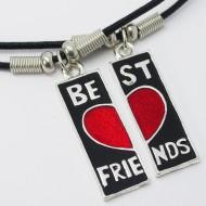 MK135 - Ketten Best friends geteilt mit rotem Herz