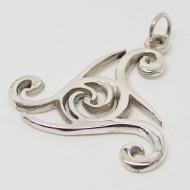 SS089 - Kettenanhänger Keltische Triskele gr