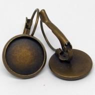 OR001 - bronzefarbene Ohrring Brisuren Rohlinge