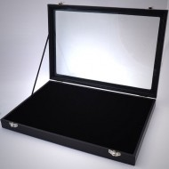 RD001 100er Ringbox mit Glasdeckel