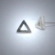 OS086 Ohrstecker aus Silber Dreieck