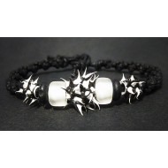 UVA002_1 UV Armbänder aus Makramee (schwarz)