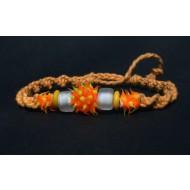 UVA002_2 UV Armbänder aus Makramee (orange)