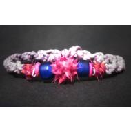 UVA002_3 UV Armbänder aus Makramee (rosa/pink)