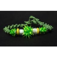 UVA002_4 UV Armbänder aus Makramee (grün)