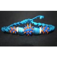 UVA002_7 UV Armbänder aus Makramee (blau/orange)